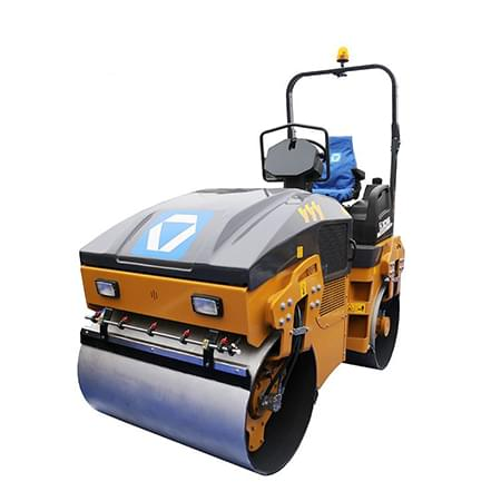 XCMG 4 ton Light double drum vibratory roller earth compactor machine XMR403 small road roller