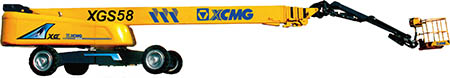 XCMG 58m aerial work platform XGS58 Hydraulic articulated boom lift